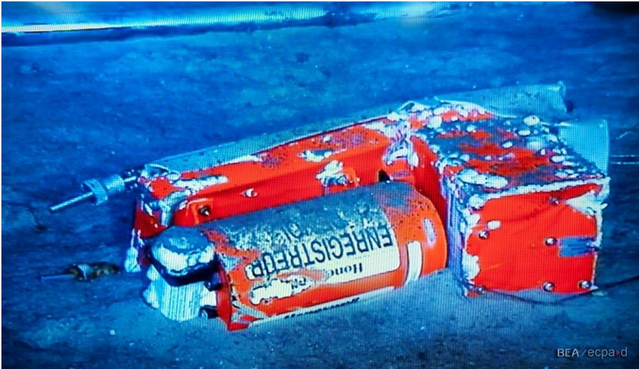 One of the recorders recovered from the sea bed (photo: BEA)