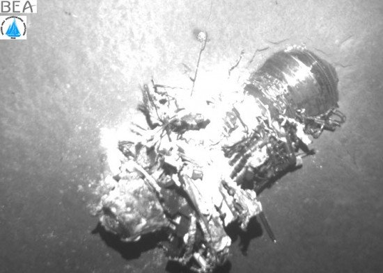 Wreckage of AF447 was found on the sea bed (photo: BEA)