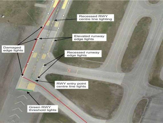 The aircraft's entry to the runway and the take-off run. (source: Finnish SIB)