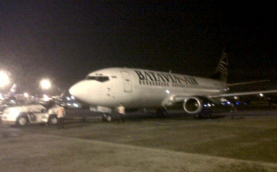 Batavia Air Boeing 737-300 PK-YVZ after the incident