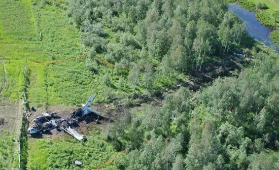 The An-24 crashed into trees on approach to Igarka (photo: MAK)