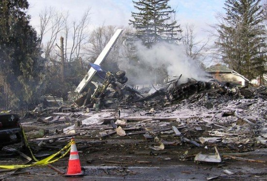 Colgan Air Flight 3407 crashed in Buffalo, NY, killing 50 (photo: NTSB)