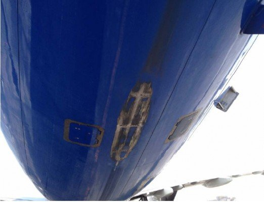 Damage as a result of the tailstrike of A321 VQ-BOH (Egyptian Ministry of Civil Aviation)