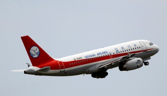 File photo of a Sichuan Airlines Airbus A319 during departure from Chongqing (Photo: byeangel / CC-by-nc-sa)
