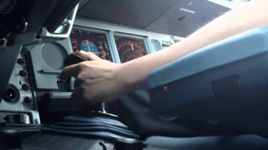Side stick on the A330 (left hand seat) (Photo: YouTube  video)